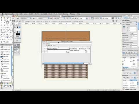 Vectorworks Spotlight 2014: Seating - 04 - YouTube