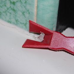 remove and replace caulk in bathroom.