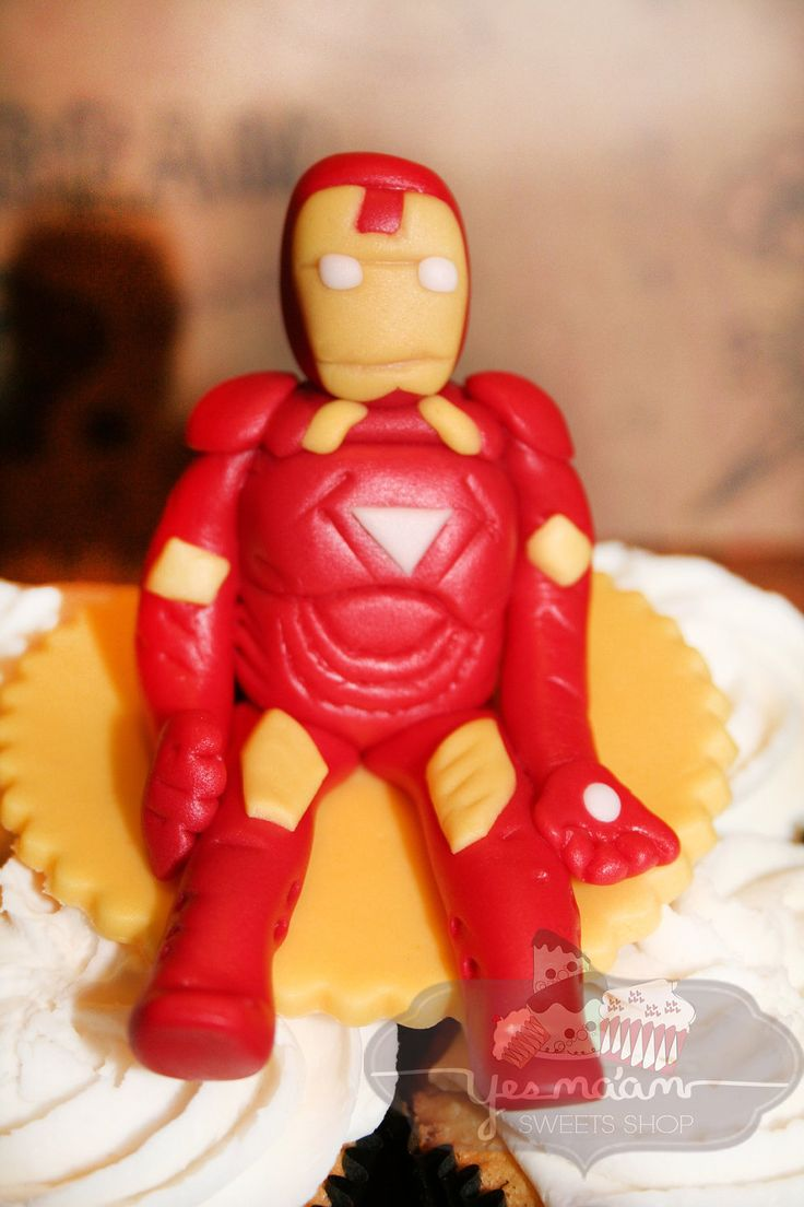 Cake Decor Figurines : Iron Man Figurine Fondant Cake Topper. USD10.99, via Etsy ...