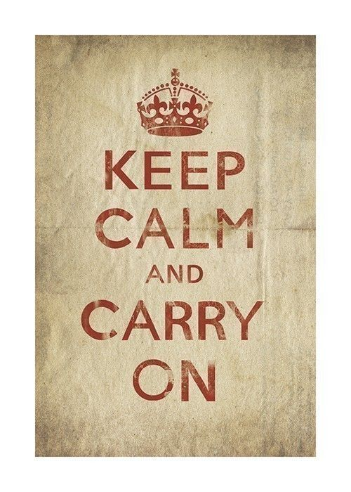 Keep Calm and Carry On old paper  13 x 19 by cutpasteprint on Etsy
