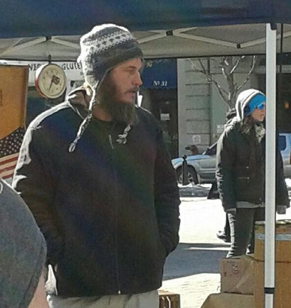 "Filming ""Maggie's Plan""  NYC  Feb. 2015 (travis fimmel)"