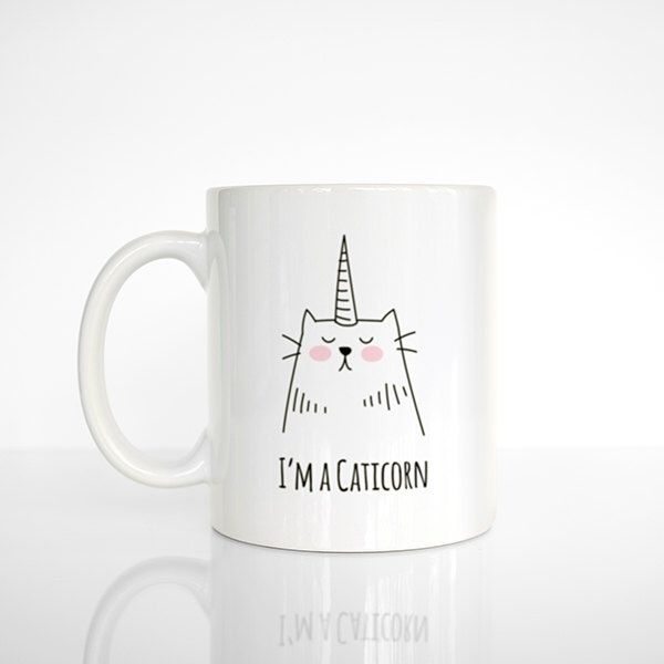 Caticorn Coffee Mug, Cat Unicorn, Cat Mug, Unicorn Mug, Funny Mug, Cute Mug…