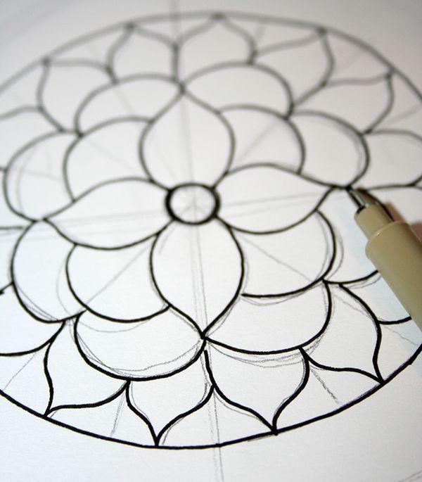 Wie Zeichnet Man Ein Mandala Mit Kostenlosen Malvorlagen Ein Kostenlosen Malvorlagen Man Manda Mandala Malen Anleitung Mandala Kunst Mandala Ausmalen