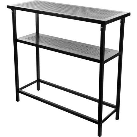 Deluxe Metal Portable Bar Table with Carrying Case, Black