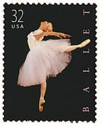 1998 32 cent Ballet stamp. My mother bought me a sheet of them that I still have in mint condition.