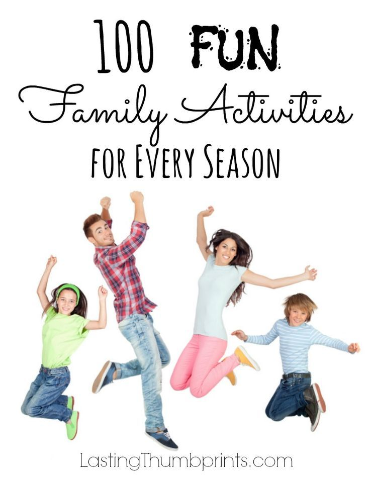 100 Fun Family Activities for Every Season - Great list for frugal family fun! family fun activities #family
