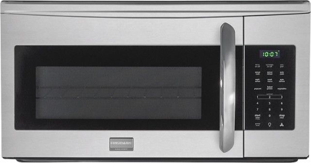 Frigidaire - Gallery 1.7 Cu. Ft. Over-the-Range Microwave - Stainless-Steel - Front Zoom