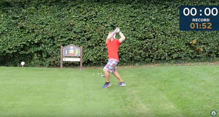 Watch man smash world record for fastest golf hole played - Golf Digest