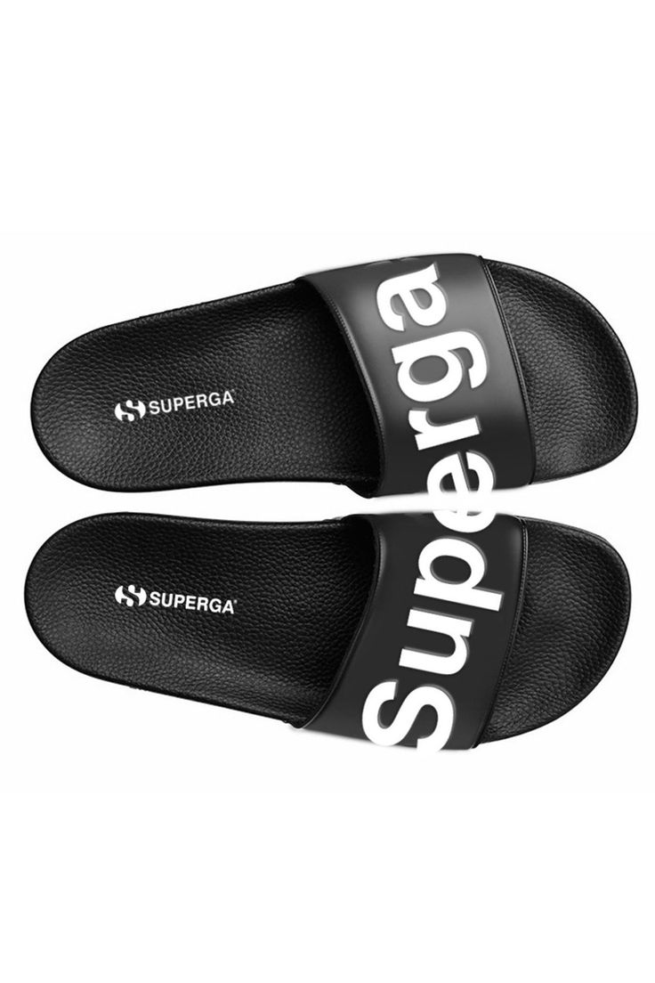 SUPERGA - Pool Slide - Black/White