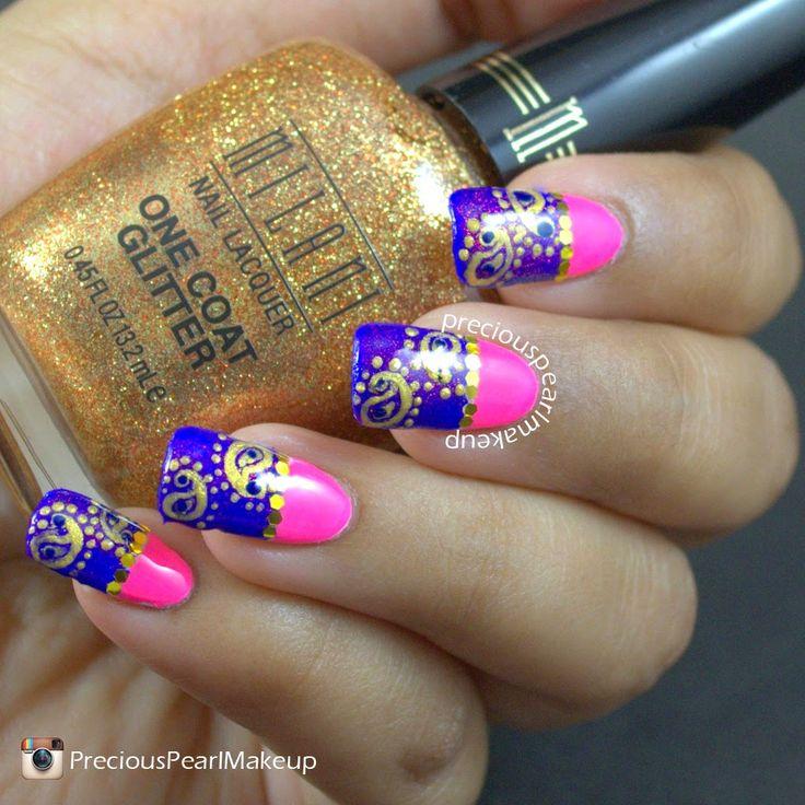 556 best nail art ii images on pinterest nail scissors hair dos preciouspearlmakeup royal paisleys nail art prinsesfo Images