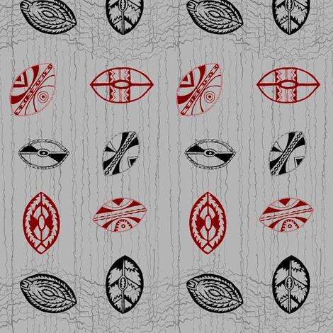 African Shields-055 fabric by kkitwana on Spoonflower - custom fabric