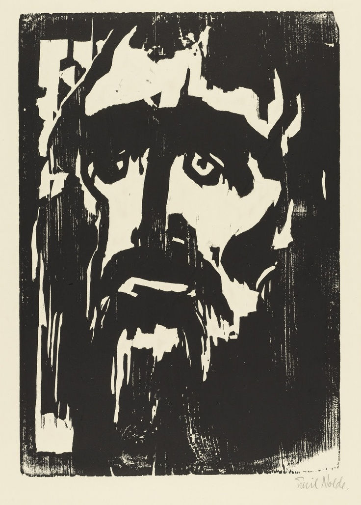 Emil Nolde - wood block printEmile Nolde (German~Danish 1867~1956) | He was one of the first Expressionists, a member of Die Brücke.Artist Emile NoldeFosterginger.Pinterest.ComMore Pins Like This One At FOSTERGINGER @ PINTEREST No Pin Limitsでこのようなピンがいっぱいになるピンの限界He was one of the first Expressionists, a member of Die Brücke, and is considered to be one of the great oil painting and watercolour painters of the 20th century.