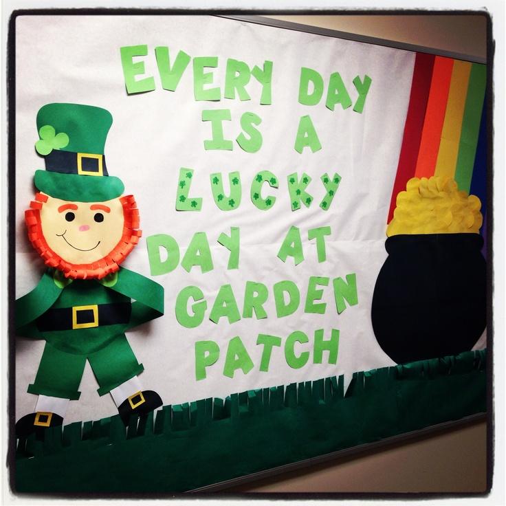 St. Patrick's Day bulletin board!