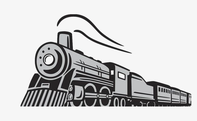 Cartoon Hand Drawn Steam Running Train Train Drawing How To Draw Hands Train Silhouette