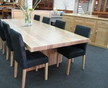 DT030 - DINING TABLE, SLAB STYLE IN TASMANIAN OAK