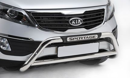 Airbag compatible, stainless steel nudge bar. #Kia #accessories