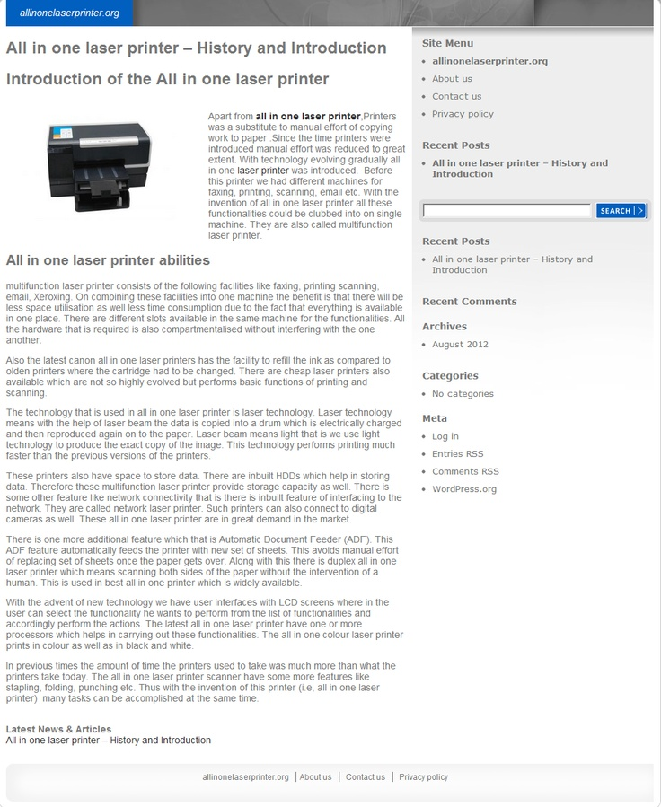Are you looking for all in one laser printer reviews? Get to know what makes a good multipurpose printer, abilities and advantages of a multifunction laser printer.. >> multifunction laser printer, cheap laser printers --> http://allinonelaserprinter.org