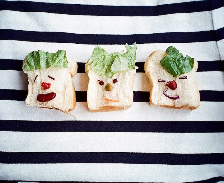 Funny breakfast food faces!