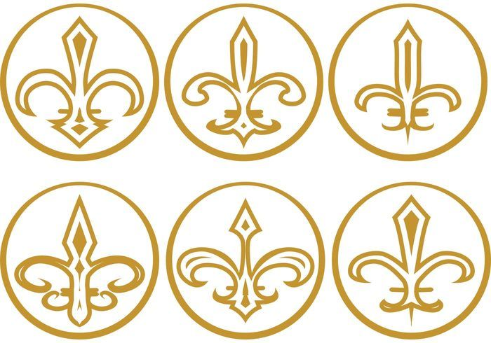 Free vector Gold Fleur de Lis Vectors #22406