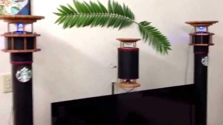 全指向性塩ビ管スピーカー ユニットはFOSTEXのFE103 - sol - YouTube