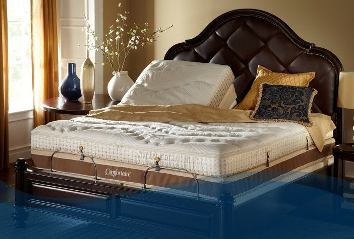 Watch television, read, or simply enjoy the benefits of sleeping in a slightly inclined position. Build your perfect bed: http://www.comfortaire.com/elite4-adjustable-beds #bed #bedroom