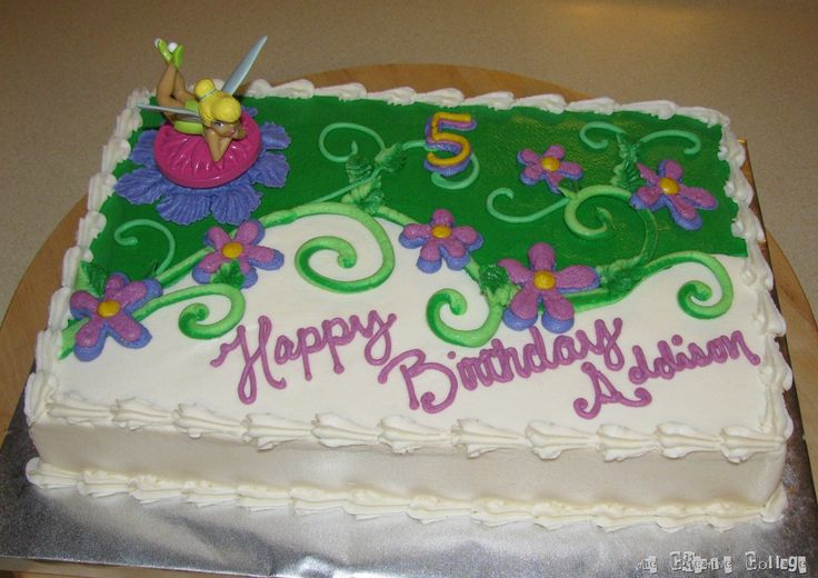 tinkerbell sheet cakes | Decorated Cakes | Welcome to the Creative Collage - Come In and Stay ...