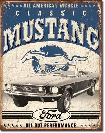Tin Sign Classic Mustang
