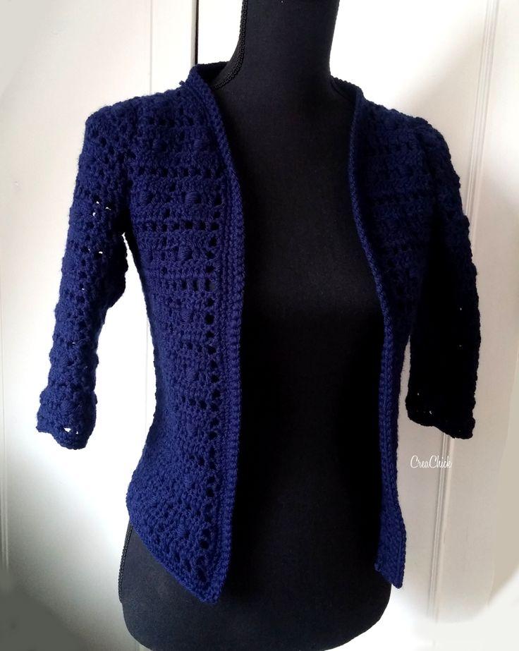 Crochet cardigan. Free pattern. Vest haken. Gratis patroon.