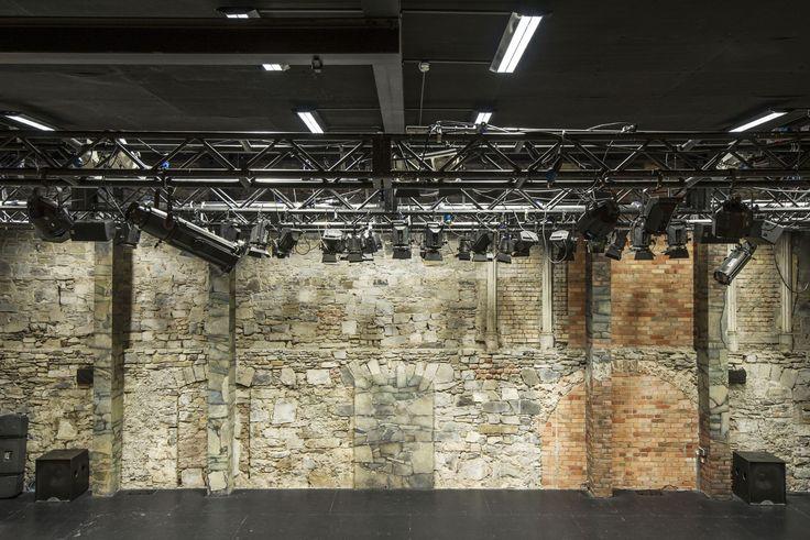 Restored Brick Work in the Main Theatre Space.
