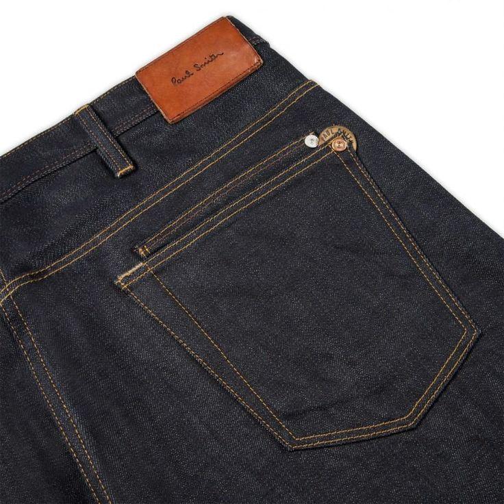 Paul Smith Men's Standard-Fit Dry Indigo Selvedge Jeans