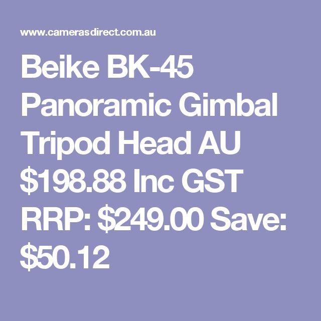 Beike BK-45 Panoramic Gimbal Tripod Head  AU $198.88 Inc GST RRP: $249.00 Save: $50.12