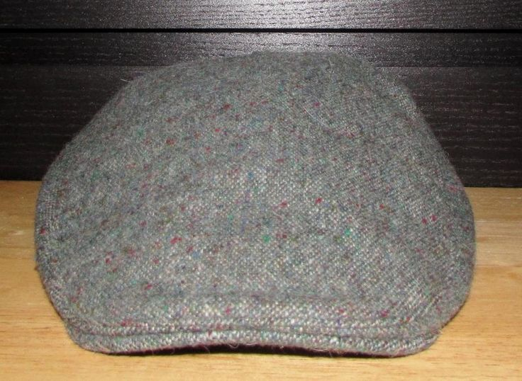 Men Hanna Hats of Donegal Green Tweed 100% Pure New Wool sz Small NWT NEW #HannaHats #NewsboyCabbie