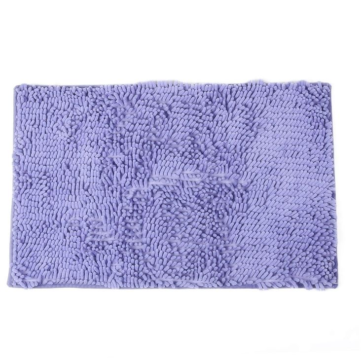 Outdoor Chenille Rectangle Anti-slip Floor Rug Carpet Doormat Purple 45cm x 70cm
