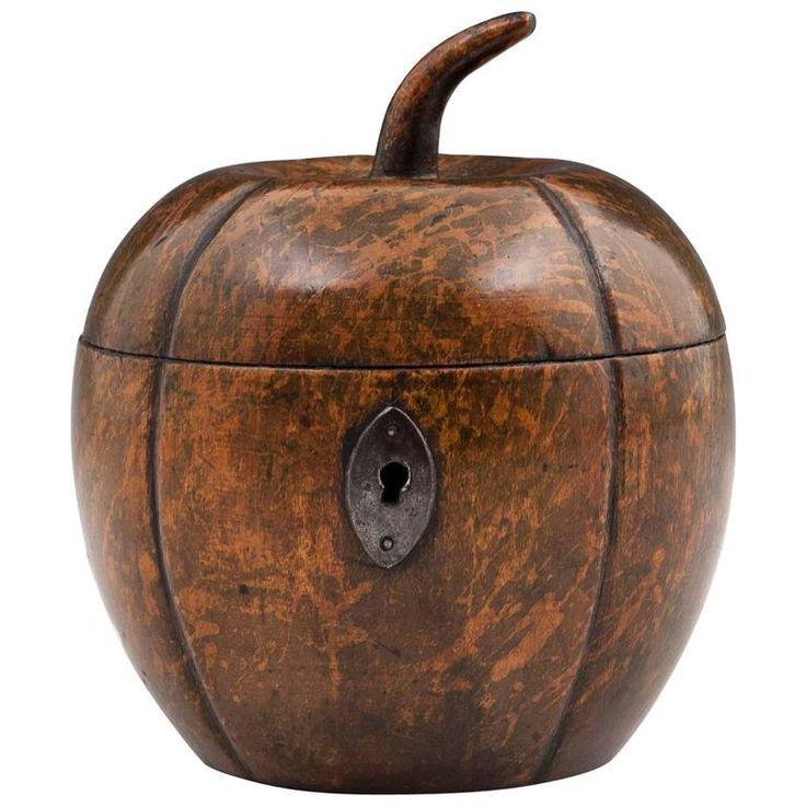 Antique Melon Tea Caddy 1