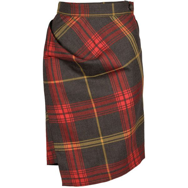 A Tartan Tale Vivienne Westwood Anglomania Scale Jacket ❤ liked on Polyvore featuring skirts, plaid skirt, vivienne westwood anglomania, tartan plaid skirt and tartan skirt