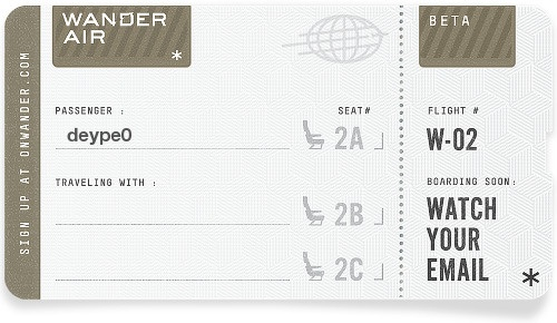 Getting ready for a wild, beautiful trip on Wander. Request an invitation at http://onwander.com