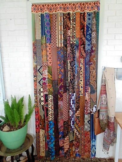 BOHEMIAN Door Curtain 45 X 82 Boho Chic Decor handmade