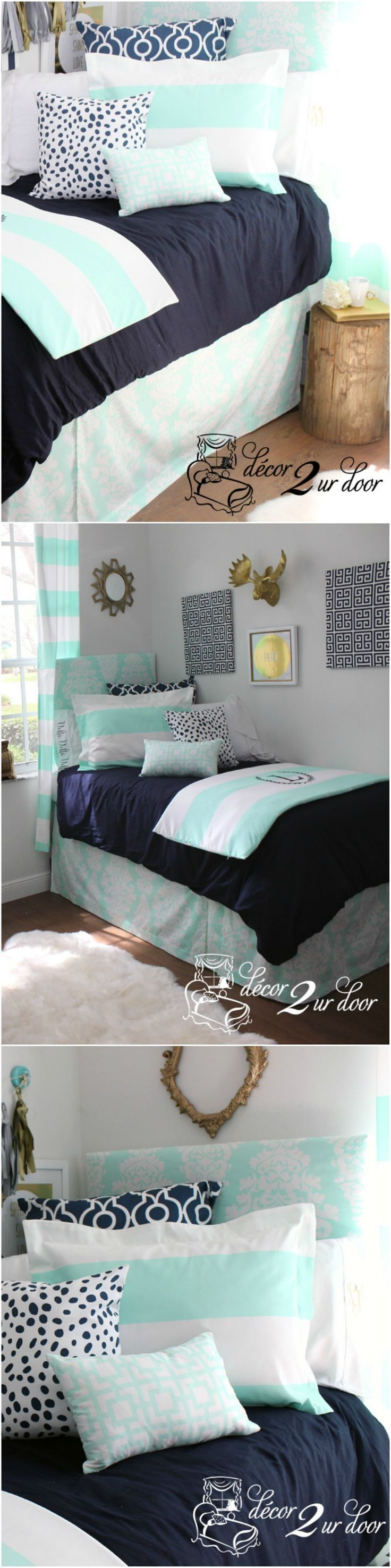 Decorating a dorm room? Check out Décor 2 Ur Door for the latest dorm room decorating trends. Dorm Room Décor. Custom-made Designer Dorm Room Bedding. Design your own dorm room bedding. Designer dorm headboard, dorm bed scarf, dorm bed skirt/dorm dust ruffle, monogram dorm room pillows, dorm room window treatment, lofted dorm bed décor, dorm room wall monogram, chair cover for dorm room, modern dorm room furniture and so much more…