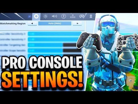 Best Console Settings In Fortnite Pro Player Settings On Controller