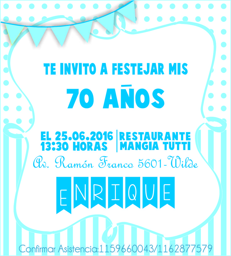 Invitaciones...  https://www.facebook.com/organizadoraflorenciacopoletti/