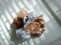 fabric roses table decoration