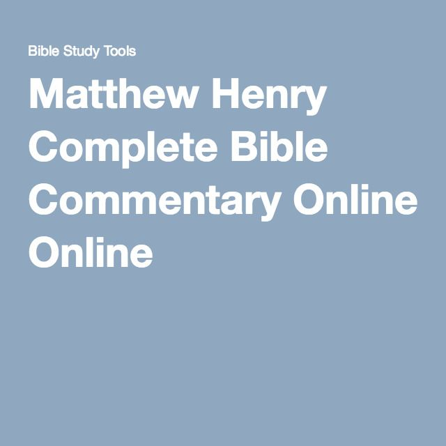 The 25 best bible commentary ideas on pinterest christian matthew henrys complete bible commentary provides an exhaustive look at every verse study the bible online fandeluxe Gallery