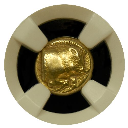 Lesbos Electrum (454-427) 1/6 Gold Stater NGC-XF-Star 5x4