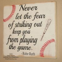 Baseball Decor Baseball Sign Baseball Quote Wooden by DeenasDesign, $32.00