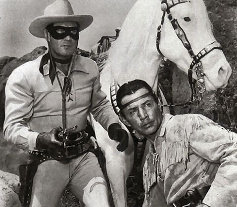 lone ranger, tonto, and silver