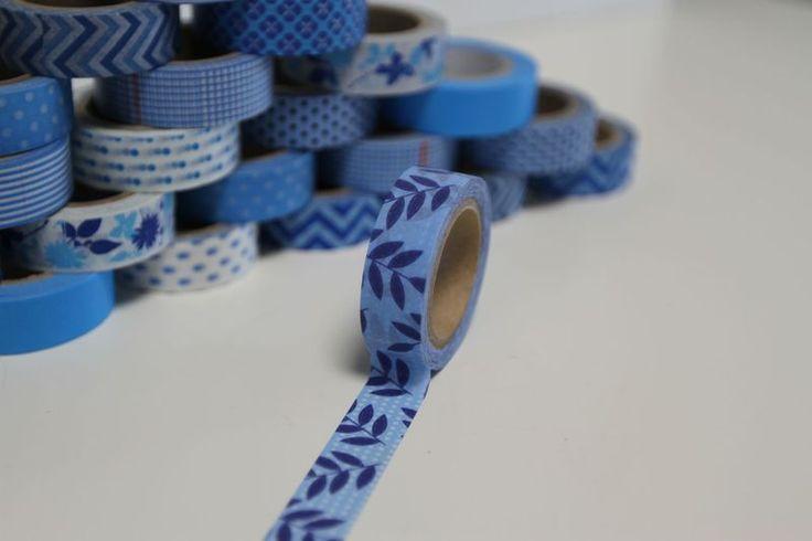 Washi Masking Tape navy blau PALMWEDEL von washitapes auf DaWanda.com