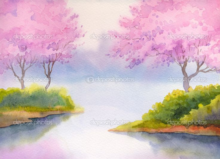 17 best images about watercoloring for beginners on for Watercolor scenes beginners