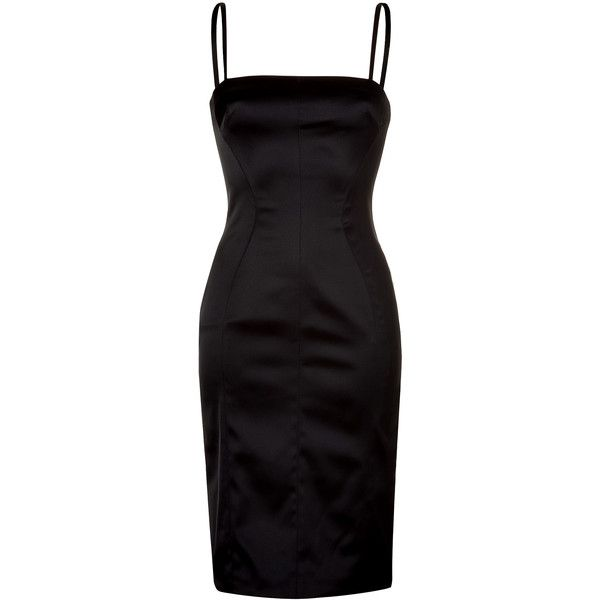 D DOLCE & GABBANA Black Spaghetti Strap Dress ❤ liked on Polyvore