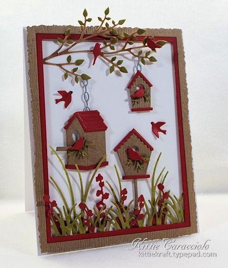 Birdhouse Village van memory box. Andere malletjes zijn van Impression obsession