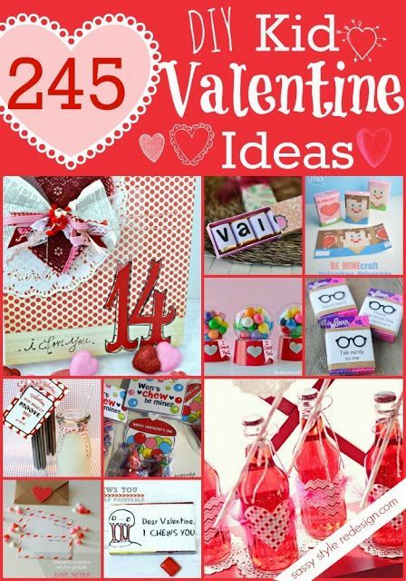 245 DIY Kid #Valentine Ideas!